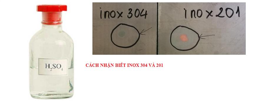 Kết quả hình ảnh cho inox 304 và 201 thuoc thu